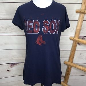 Boston Red Sox Baseball Foil T-Shirt Large